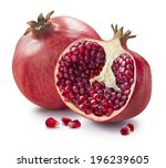 whole  half and seeds of... | Shutterstock . vector #196239605