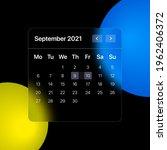 glassmorhism calendar template. ...   Shutterstock .eps vector #1962406372