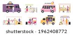 kiosk vendor. street tent  cart ... | Shutterstock .eps vector #1962408772