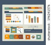 web site. flat design elements. ...