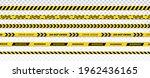 danger ribbon. yellow police... | Shutterstock .eps vector #1962436165