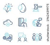 business icons set. included... | Shutterstock .eps vector #1962439975