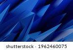 abstract 3d render  blue... | Shutterstock . vector #1962460075