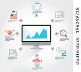 web analytics infographic   Shutterstock .eps vector #196249718
