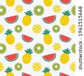 seamless pattern tropical fruit ... | Shutterstock .eps vector #1962515668