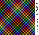 Vichy Check Pattern Rainbow...