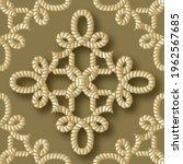 ropes seamless pattern. gold 3d ...   Shutterstock .eps vector #1962567685