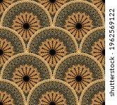 tiled round mandalas seamless... | Shutterstock .eps vector #1962569122