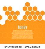 abstract hexagonal honeycomb...   Shutterstock .eps vector #196258535