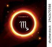 scorpio zodiac symbol in modern ... | Shutterstock .eps vector #1962670588