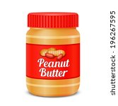 jar of peanut butter isolated...   Shutterstock . vector #196267595