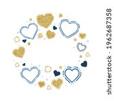 hearts. hand drawn hearts and... | Shutterstock .eps vector #1962687358