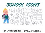 collection of hand drawn school ...   Shutterstock .eps vector #1962693868