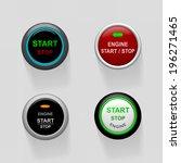 set of start stop engine... | Shutterstock . vector #196271465