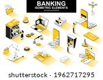 banking services bundle of... | Shutterstock .eps vector #1962717295