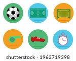 set of soccer  football vector...