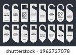 door hanger tags set with...   Shutterstock .eps vector #1962727078