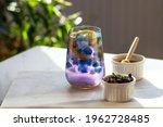 Butterfly Pea Flower Tea. Blue...