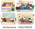 set of illustrations about... | Shutterstock .eps vector #1962748525
