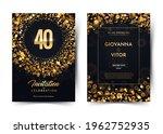 40th years birthday vector... | Shutterstock .eps vector #1962752935