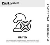 business strategy thin line... | Shutterstock .eps vector #1962761935