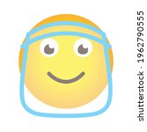single smile cartoon emoji icon ... | Shutterstock .eps vector #1962790555