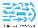 set of blue different arrow.... | Shutterstock .eps vector #1962790558