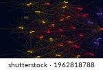 big data information nodes ... | Shutterstock .eps vector #1962818788