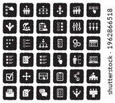 option icons. grunge black flat ...