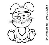 coloring book bunny. vector ... | Shutterstock .eps vector #196292255