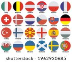flags of participating teams...   Shutterstock .eps vector #1962930685