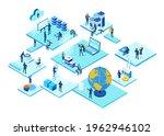 isometric 3d business... | Shutterstock .eps vector #1962946102