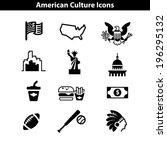 usa icon set. american landmarks | Shutterstock .eps vector #196295132