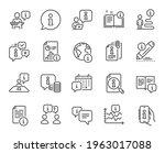 info center line icons.... | Shutterstock .eps vector #1963017088