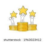 cartoon people standing with...   Shutterstock .eps vector #1963023412