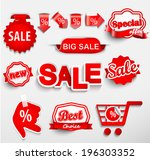 badges collection  vector  | Shutterstock .eps vector #196303352