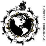 vector silhouette graphic...   Shutterstock .eps vector #19630348
