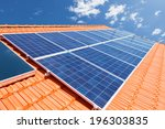 green renewable energy with... | Shutterstock . vector #196303835