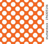 Orange Polka Dot Seamless...