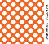 Orange Polka Dot Seamless...