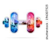 abstract creative concept... | Shutterstock .eps vector #196307525