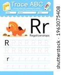 alphabet tracing worksheet with ... | Shutterstock .eps vector #1963075408
