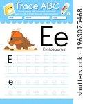 alphabet tracing worksheet with ... | Shutterstock .eps vector #1963075468