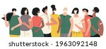diverse people after... | Shutterstock .eps vector #1963092148
