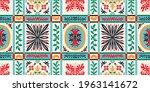 bandana print. vector seamless... | Shutterstock .eps vector #1963141672