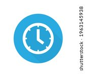 blue clock vector icon. time or ... | Shutterstock .eps vector #1963145938