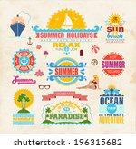 set of summer and travel design ... | Shutterstock .eps vector #196315682