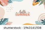 bohemian summer  modern summer... | Shutterstock .eps vector #1963161508