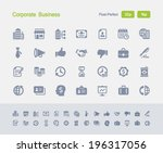 corporate business icons.... | Shutterstock .eps vector #196317056