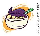 bowl acai clipart illustration...   Shutterstock .eps vector #1963175185